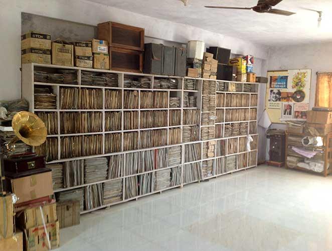 Suman Chourasiya's beloved music collection, which is now the Lata Mangeshkar Gramophone Museum (in the village of Pidgambar, Indore, Madhya Pradesh)